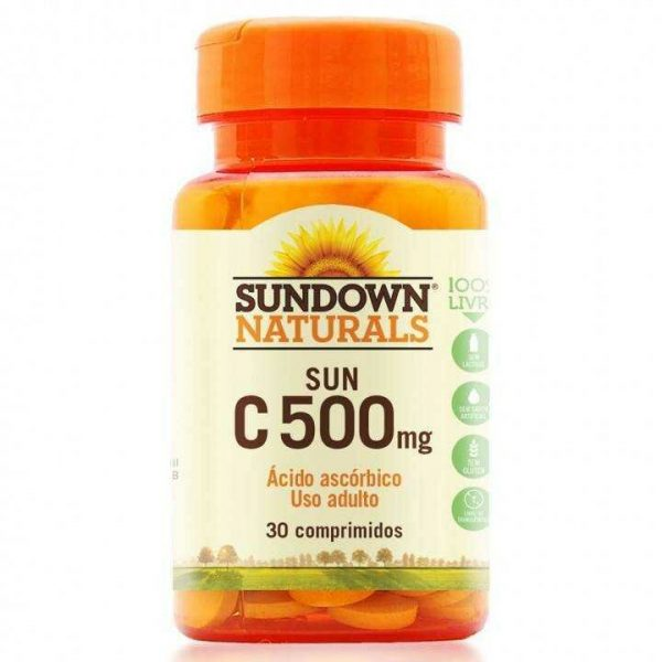 Vitamina C Sundown Sun C 500mg c/ 100 Comprimidos 1